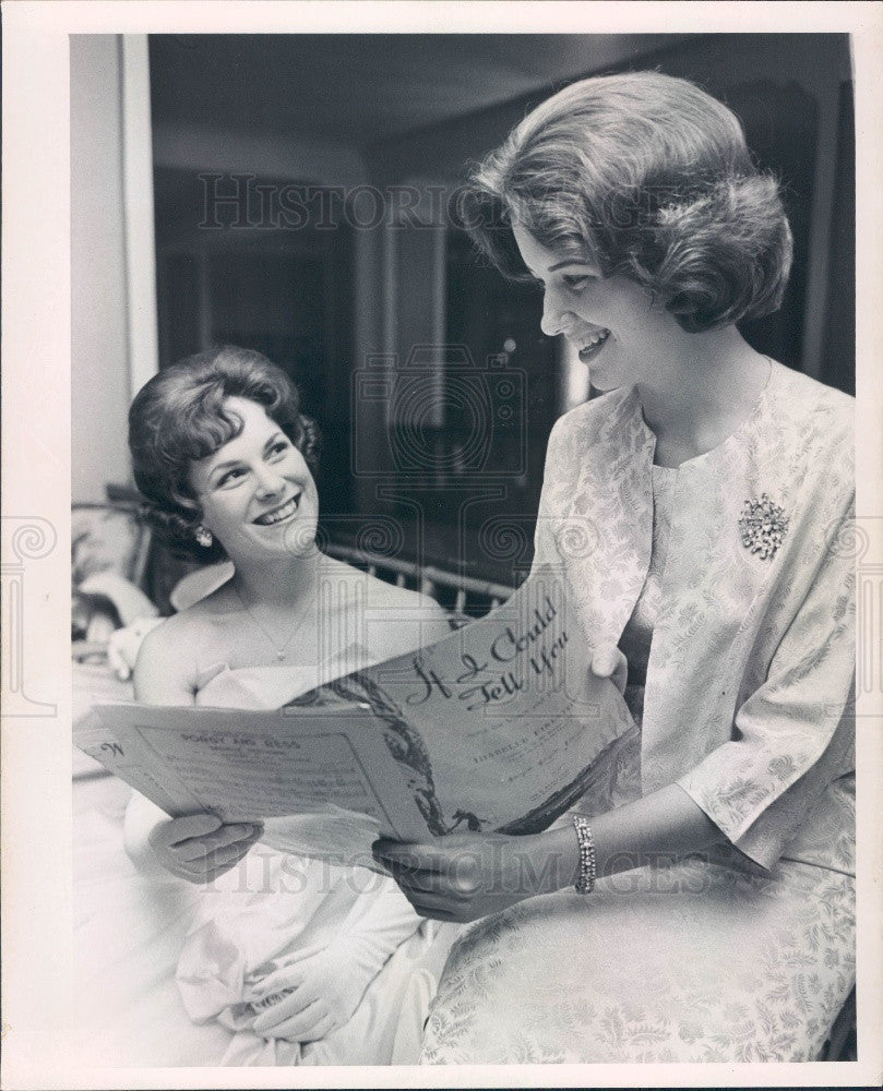 1963 St Petersburg Florida Jeanie w/ Light Brown Hair Marcia Howard Press Photo - Historic Images