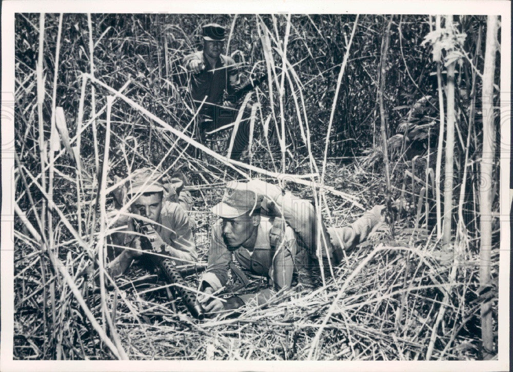 Undated Philippine & US Troops SEATO Counter-Guerrilla Operations Press Photo - Historic Images