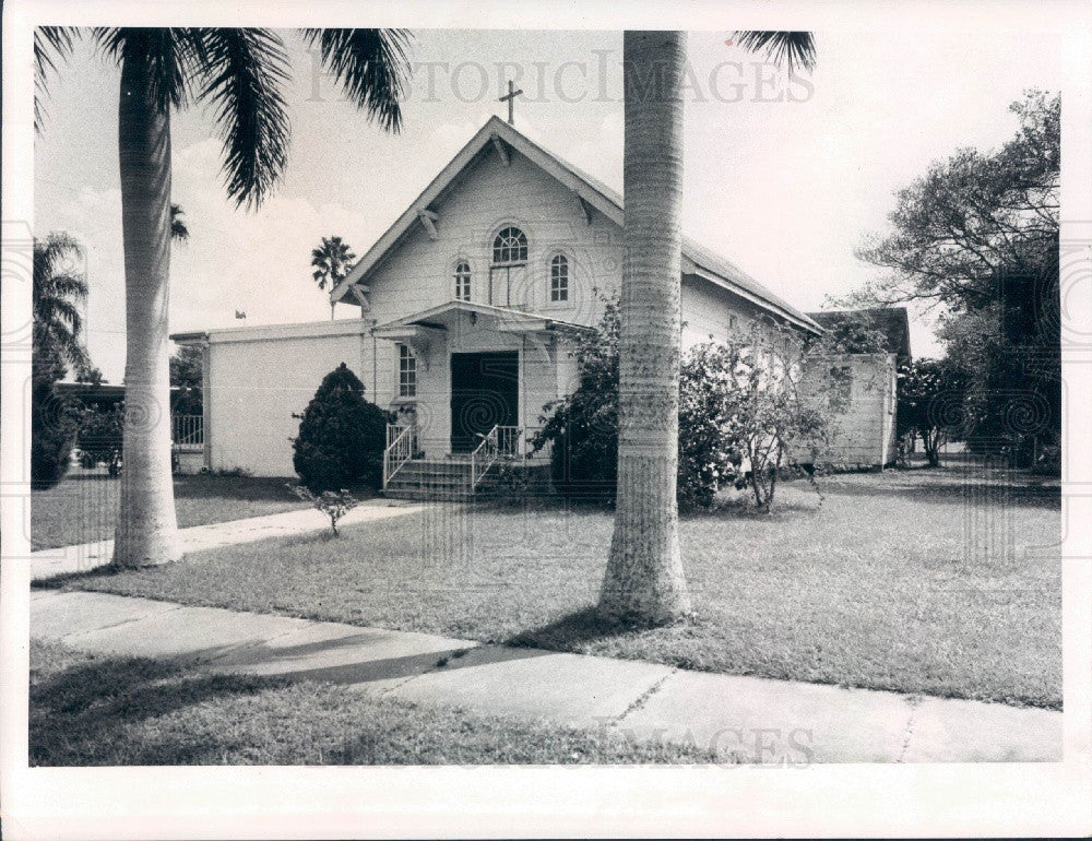 1971 Charlotte County, Florida First Catholic Church Press Photo - Historic Images