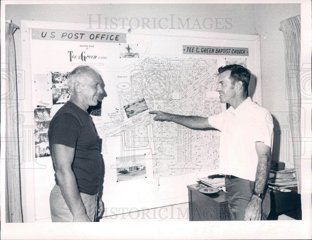 1969 East Charlotte, Florida Volunteer Fire Dept Coverage Map Press Photo - Historic Images