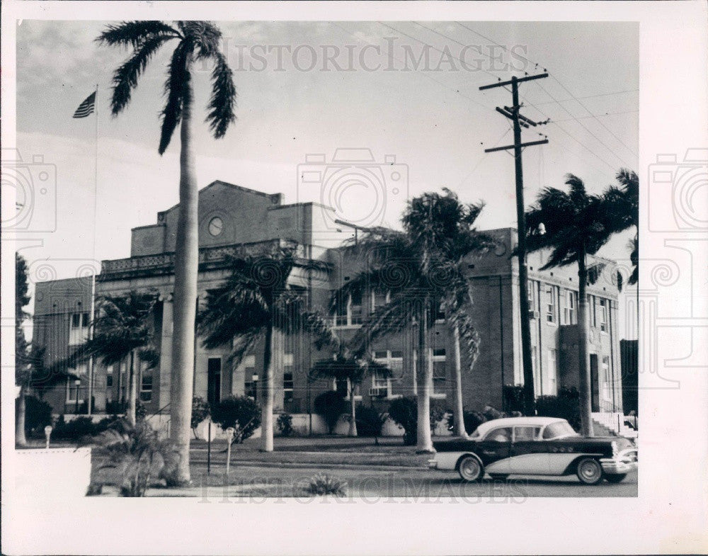 1959 Charlotte County, Florida Courthouse Press Photo - Historic Images