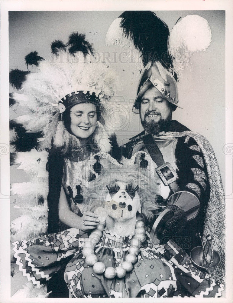 1968 Florida Festival Reps De Soto/Indian Maiden/Madcaps Clown Press Photo - Historic Images