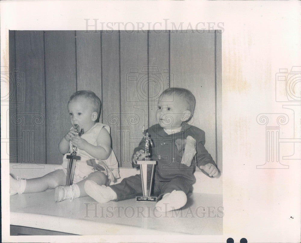 1969 New Port Richey, Florida Chasco Fiesta Baby Contest Winners Press Photo - Historic Images