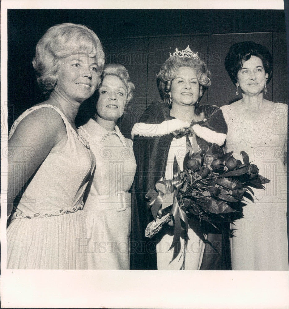 1972 St. Petersburg, Florida Queen of Heart Court Press Photo - Historic Images