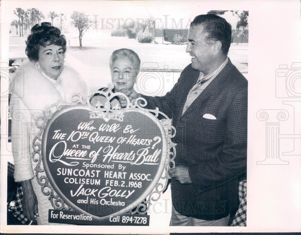 1968 St. Petersburg, Florida Queen of Hearts Ball Promo Press Photo - Historic Images