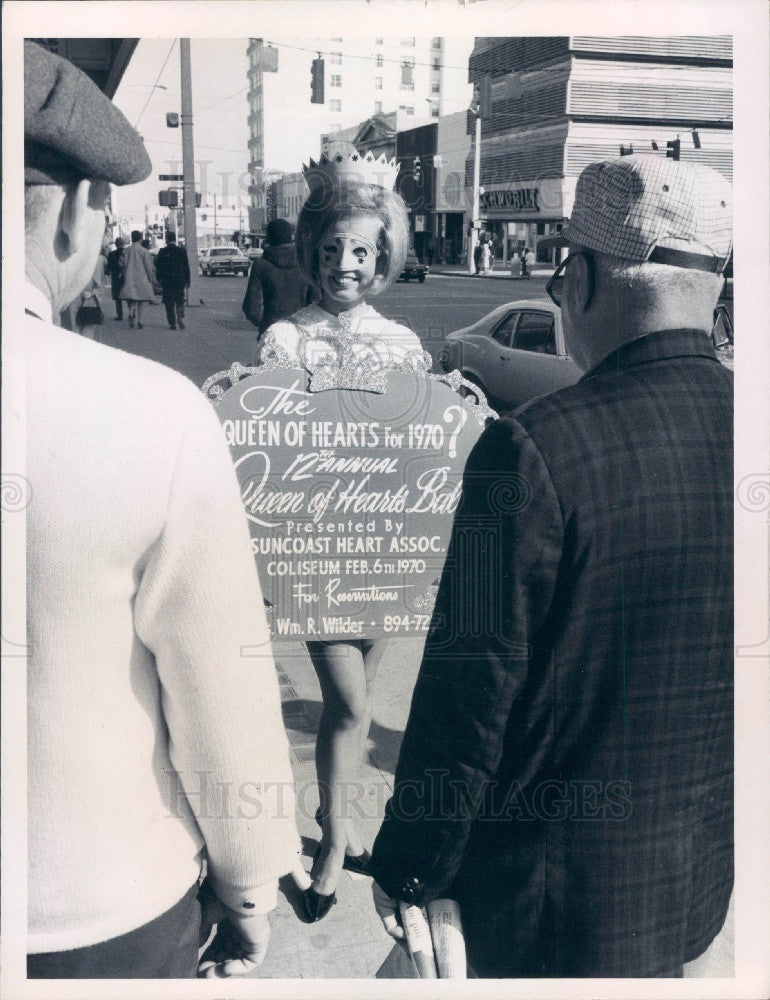 1970 St. Petersburg, Florida Queen of Hearts Ball Promo Press Photo - Historic Images