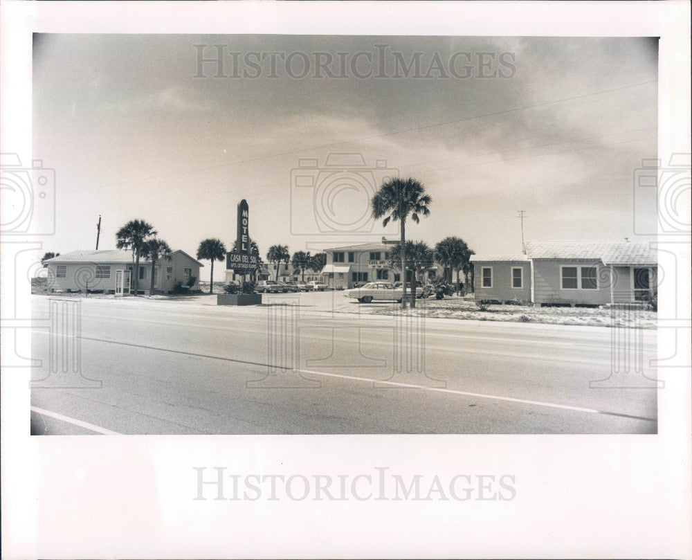 1965 St. Petersburg, Florida Casa Del Sol Motel Press Photo - Historic Images