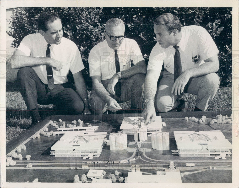 1968 University of Florida Futuristic Dairy Farm Model Press Photo - Historic Images