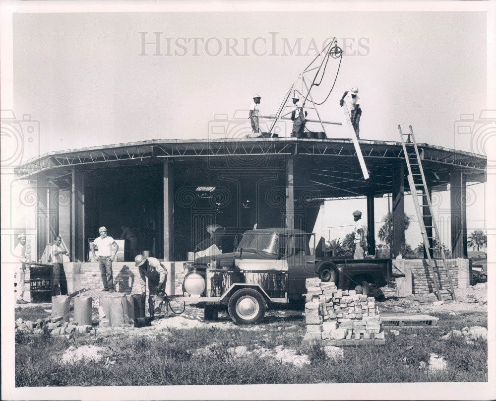 1965 Punta Gorda, Florida Charlotte Community Hospital Construction Press Photo - Historic Images