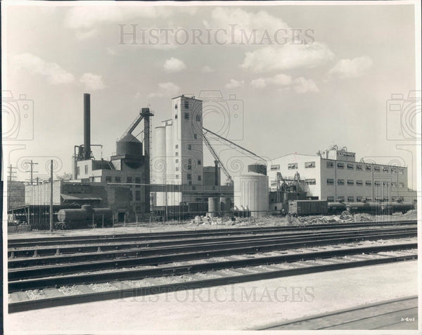 1936 Chicago, Illinois Glidden Co Soybean Processing Plant Press Photo - Historic Images