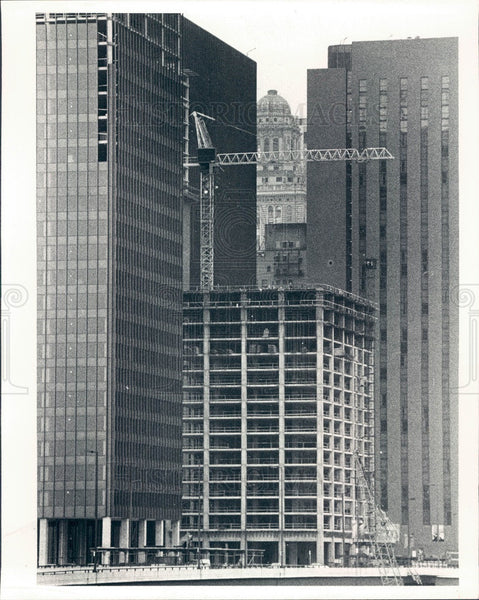 1979 Chicago, Illinois Illinois Center & Hyatt Hotel Construction Press Photo - Historic Images