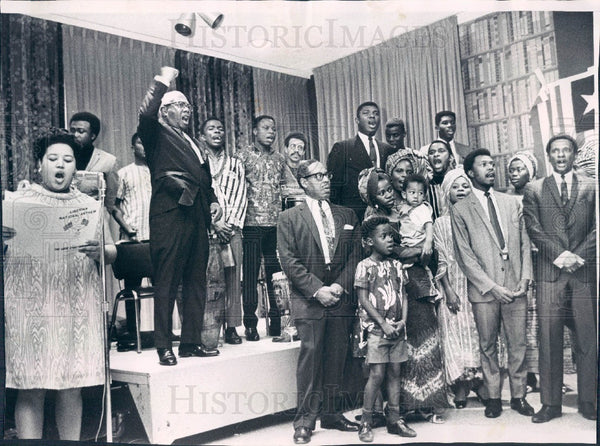 1968 Chicago, Illinois Liberia Independence Day Celebration Press Photo - Historic Images