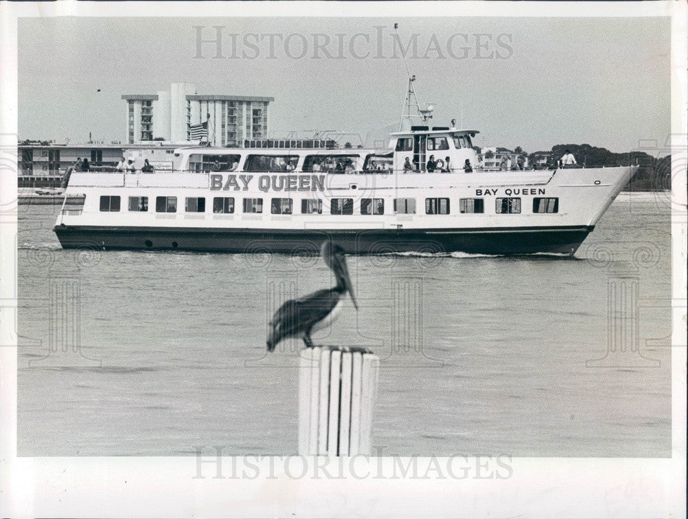 1978 St. Petersburg Florida Dinner-Cruise Boat Bay Queen Press Photo - Historic Images
