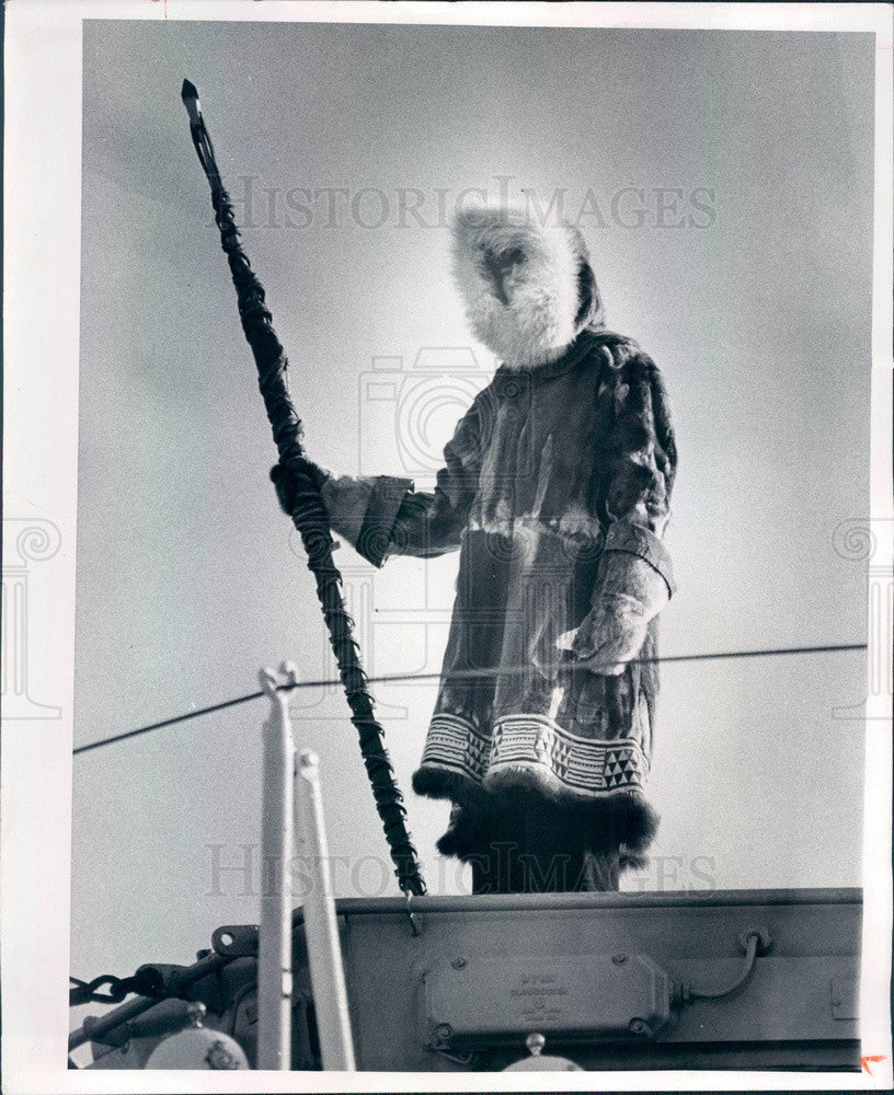 1975 British Frigate HMS Eskimo, Seaman Jack Keer in St. Pete FL Press Photo - Historic Images