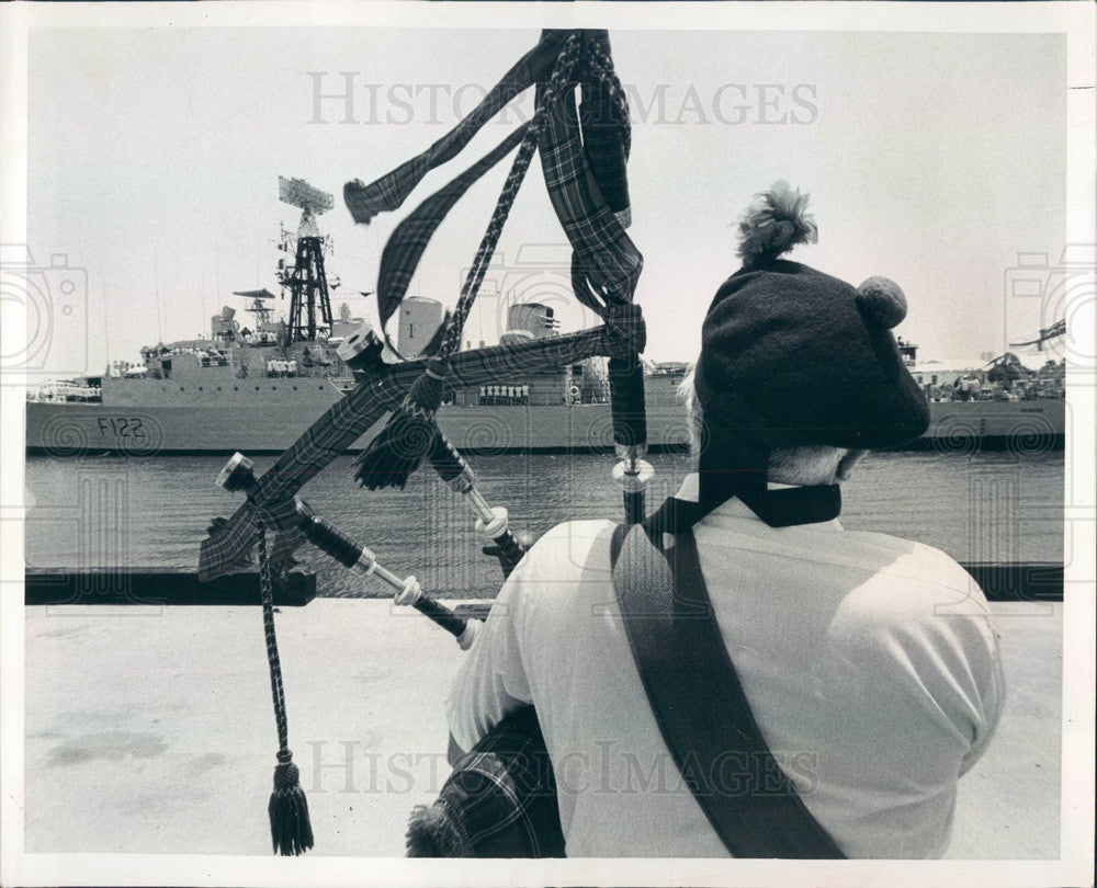1979 British Frigate Gurkha in St. Petersburg Florida Press Photo - Historic Images