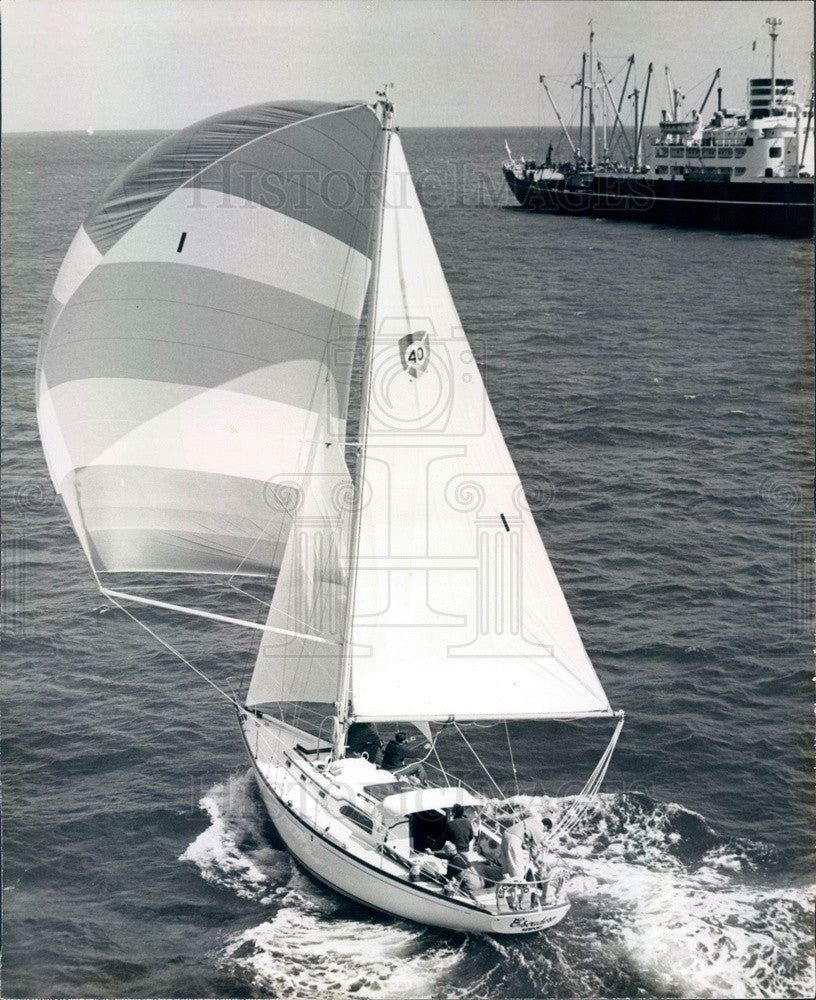 1965 Miami-to-Nassau Ocean Yacht Race Boat Escudero Press Photo - Historic Images