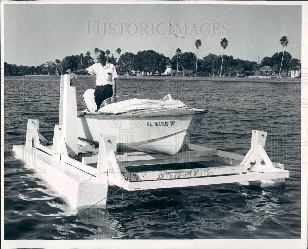 1966 Florida Floating Boat Dock, George Gearneough Press Photo - Historic Images