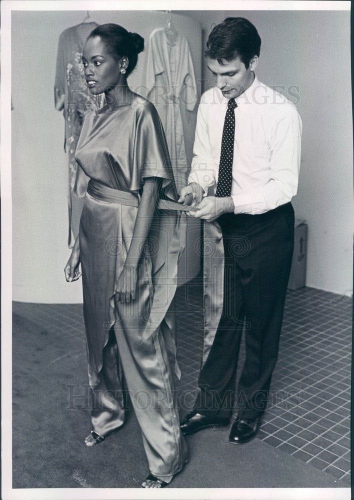 1981 Fashion Designer Stephen Manniello Press Photo - Historic Images