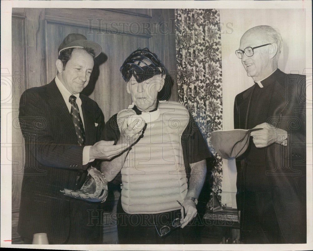 1977 Denver, Colorado Archbishop James Casey, Bishop George Evans Press Photo - Historic Images