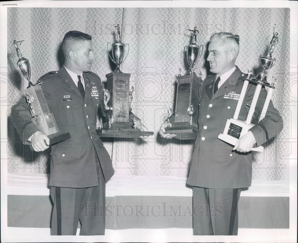 1959 Fort Carson, CO Rifle & Pistol Match Winners Press Photo - Historic Images