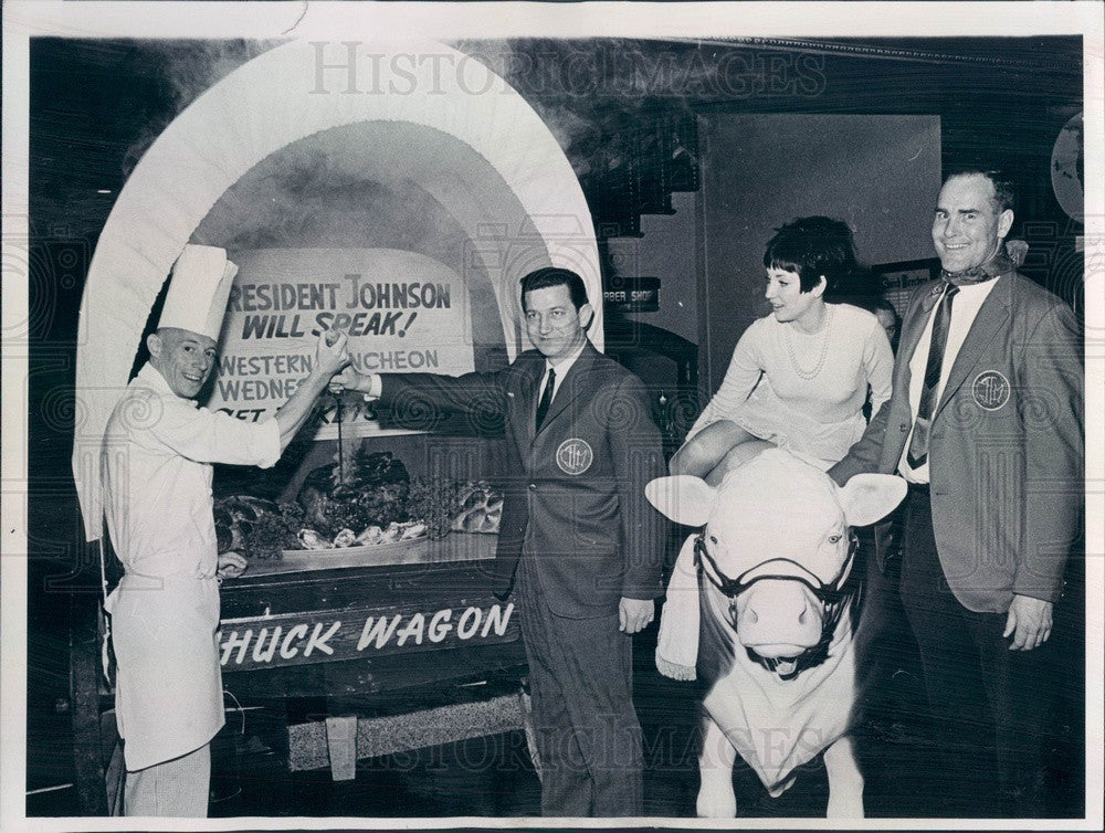 1965 Colorado-Wyoming Restaurant Association Chuck Wagon Dinner Press Photo - Historic Images