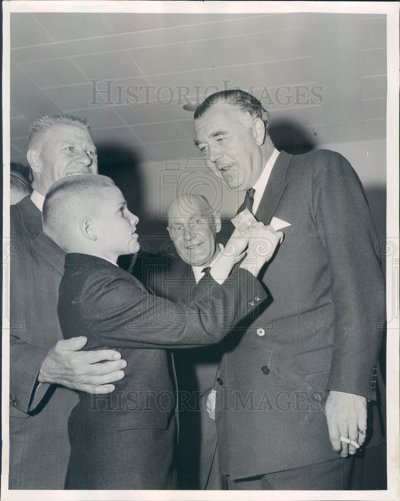 1963 Sweden Prince Bertil at Chicago O'Hare Airport Press Photo - Historic Images