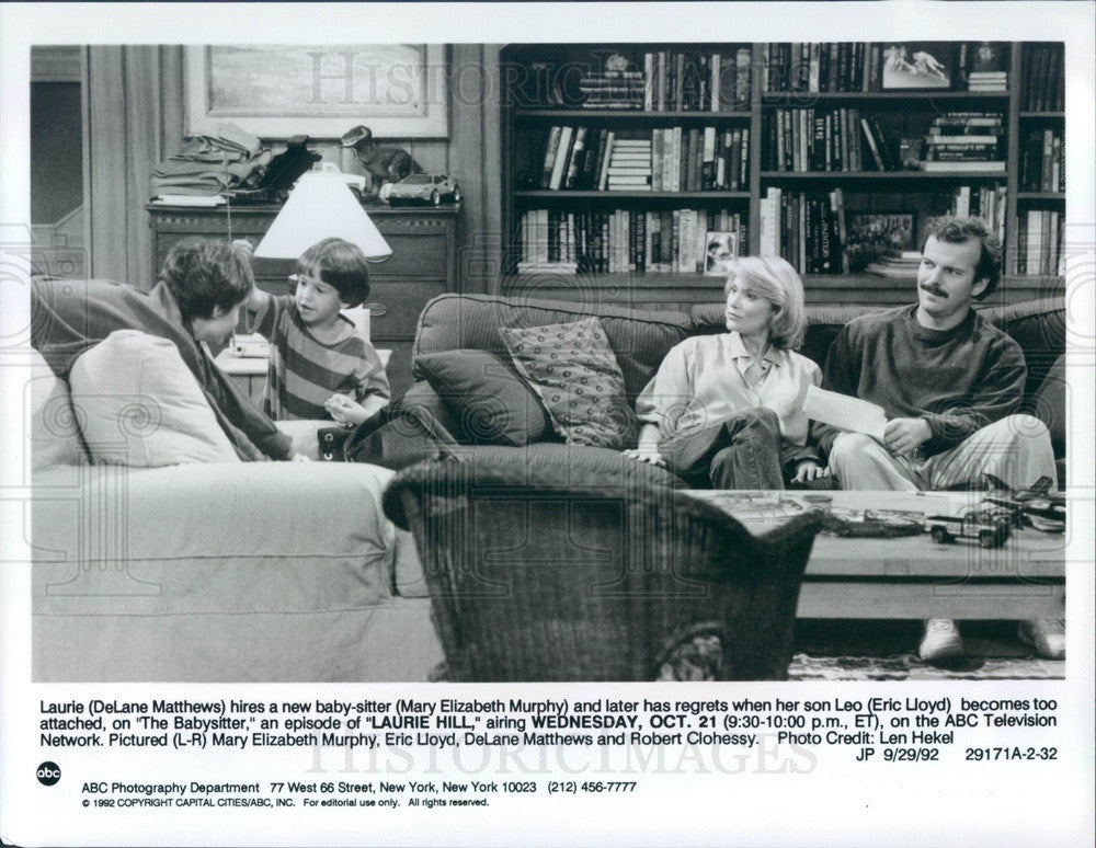 1992 Hollywood Actors DeLane Matthews/Eric Lloyd/Robert Clohessy Press Photo - Historic Images