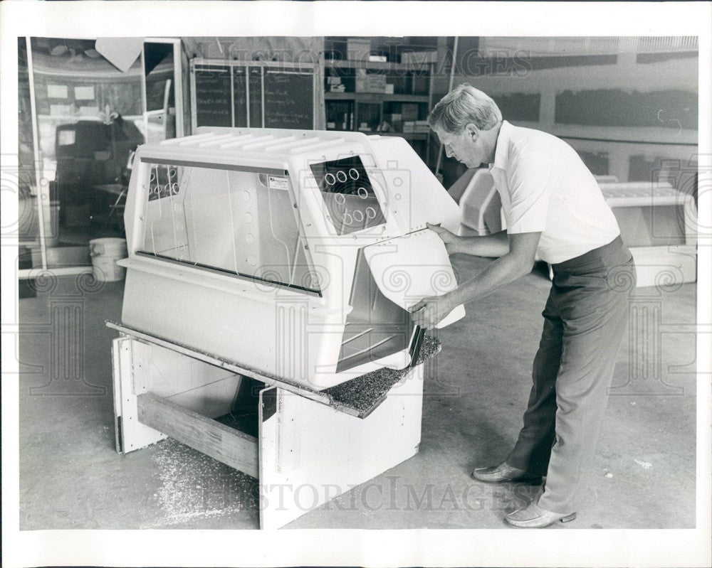1985 Safety Harbor, Florida K-9 Container Corp, Kurt Marshall Press Photo - Historic Images