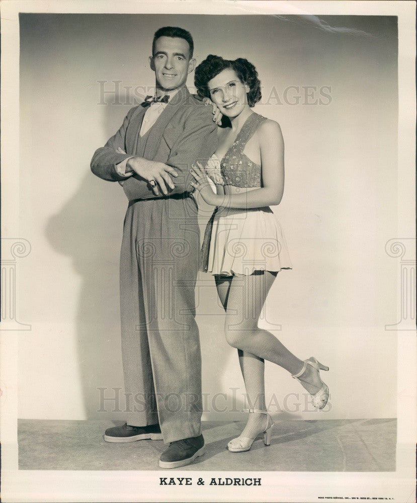Undated Dancers Kaye & Aldrich Press Photo - Historic Images