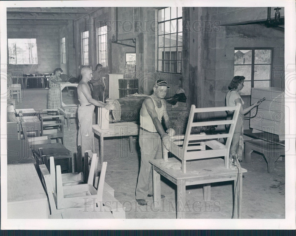 1951 St. Petersburg Florida Kempker Furniture Manufacturing Company Press Photo - Historic Images