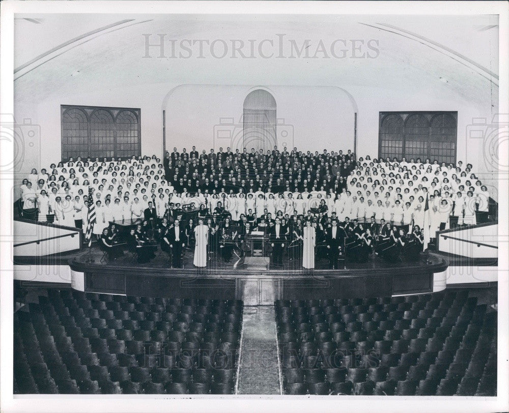 1963 Kansas Bethany College Messiah Music Festival Press Photo - Historic Images