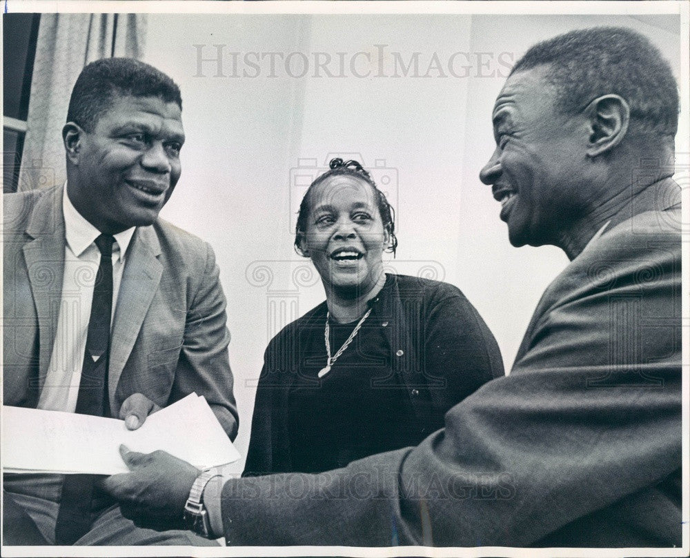 1968 Denver, Colorado NAACP President Lawrence Lewis Press Photo - Historic Images