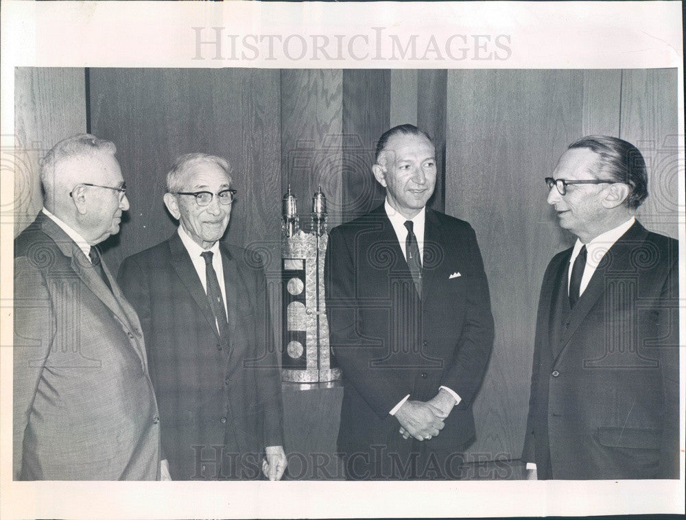 1964 Denver, Colorado Congregation Emanuel, Rabbi Stone Press Photo - Historic Images