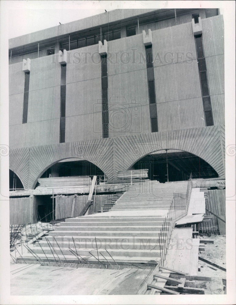 1970 St. Petersburg FL Pinellas County Judicial Bldg Construction Press Photo - Historic Images