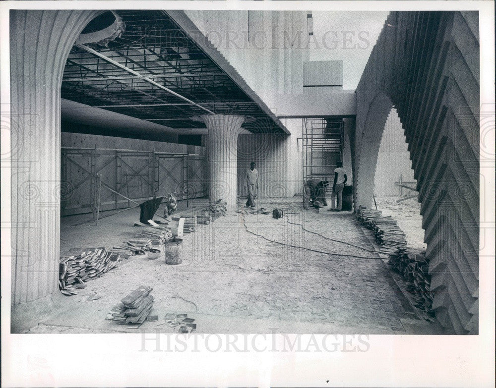 1974 St. Petersburg FL Pinellas County Judicial Bldg Expansion Press Photo - Historic Images