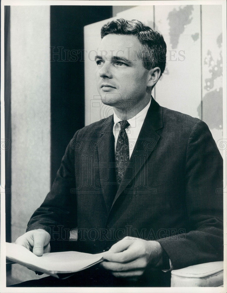 1968 NBC News Robert Abernethy Press Photo - Historic Images
