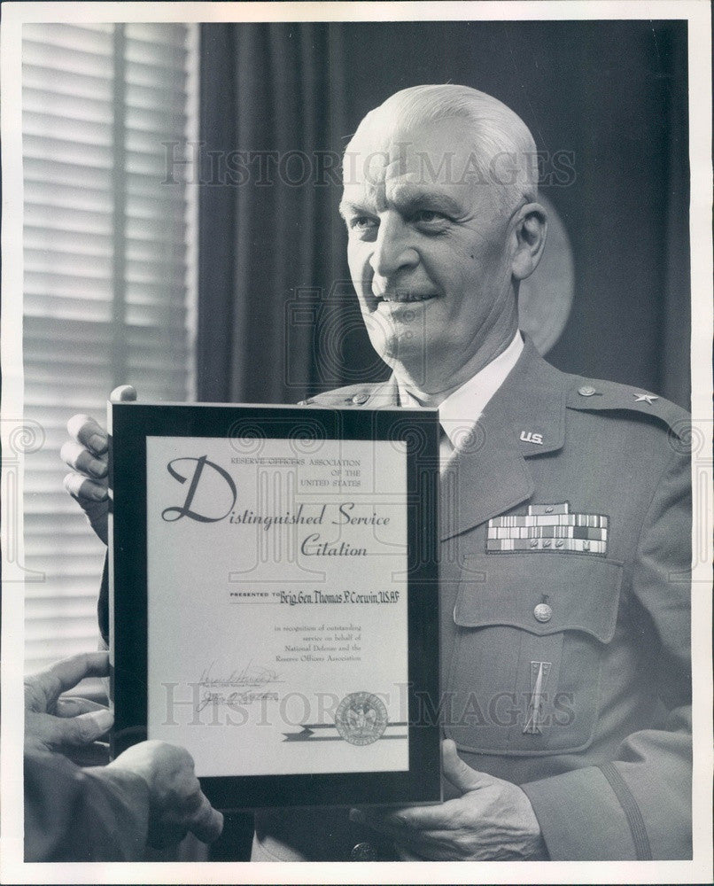 1967 Denver, Colorado Air Force Commander Brig Gen Thomas Corwin Press Photo - Historic Images
