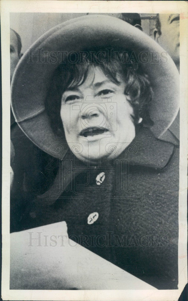1971 New York Congresswoman Bella Abzug, Women's Movement Leader Press Photo - Historic Images