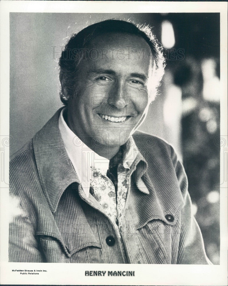 1975 Oscar Winning Composer & Conductor Henry Mancini Press Photo - Historic Images