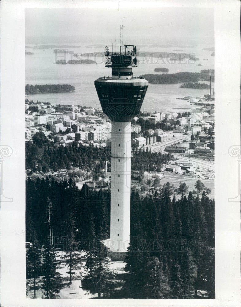 1976 Kuopio, Finland 240-Foot Tower Overlooking City Press Photo - Historic Images