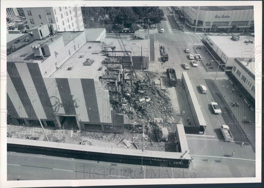 1971 St. Petersburg Florida Joseph's Department Store Demolition Press Photo - Historic Images