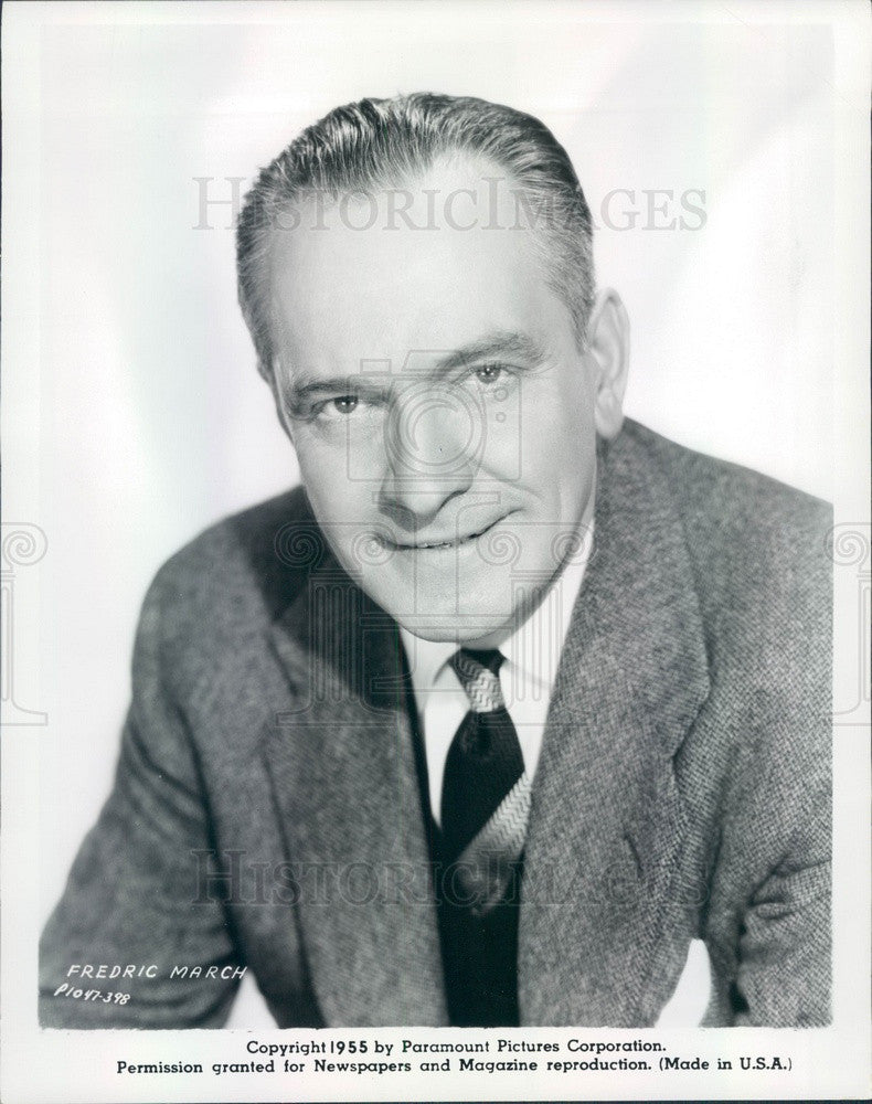 1955 Hollywood Actor & Movie Star Fredric March Press Photo - Historic Images