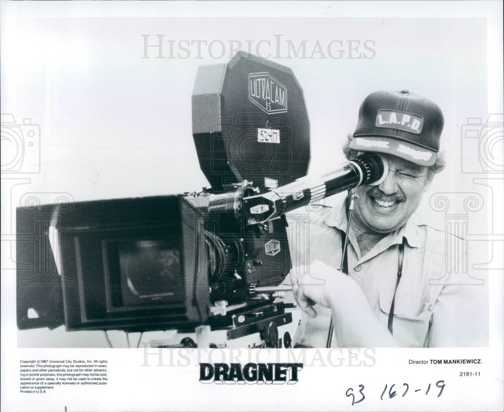 1987 Hollywood Screenwriter/Director/Producer Tom Mankiewicz Press Photo - Historic Images