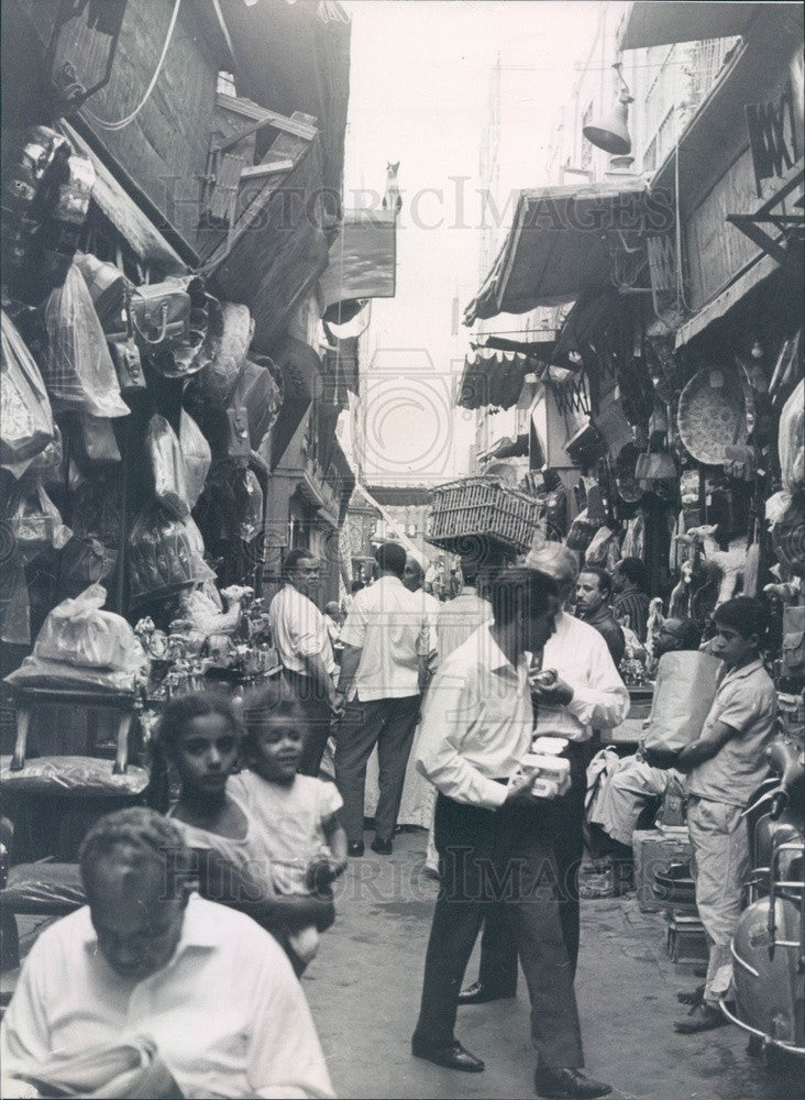 1969 Cairo, Egypt Market Press Photo - Historic Images
