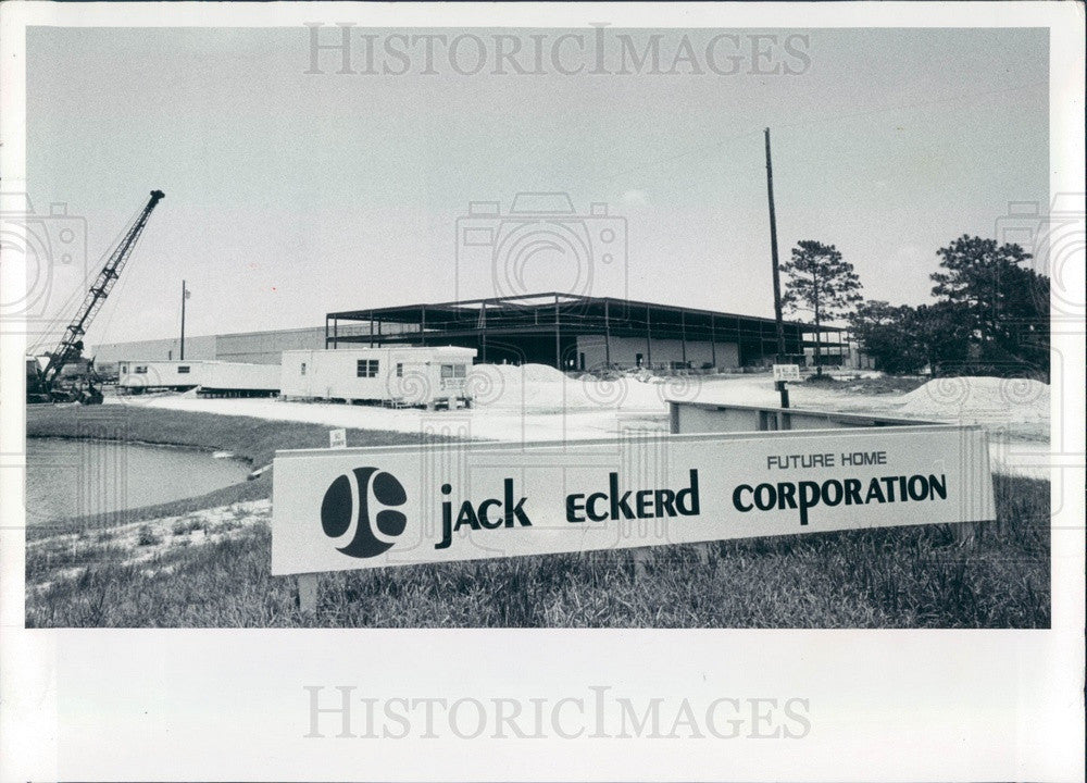 1979 Florida Eckerd Drug Store Headquarters Construction Press Photo - Historic Images
