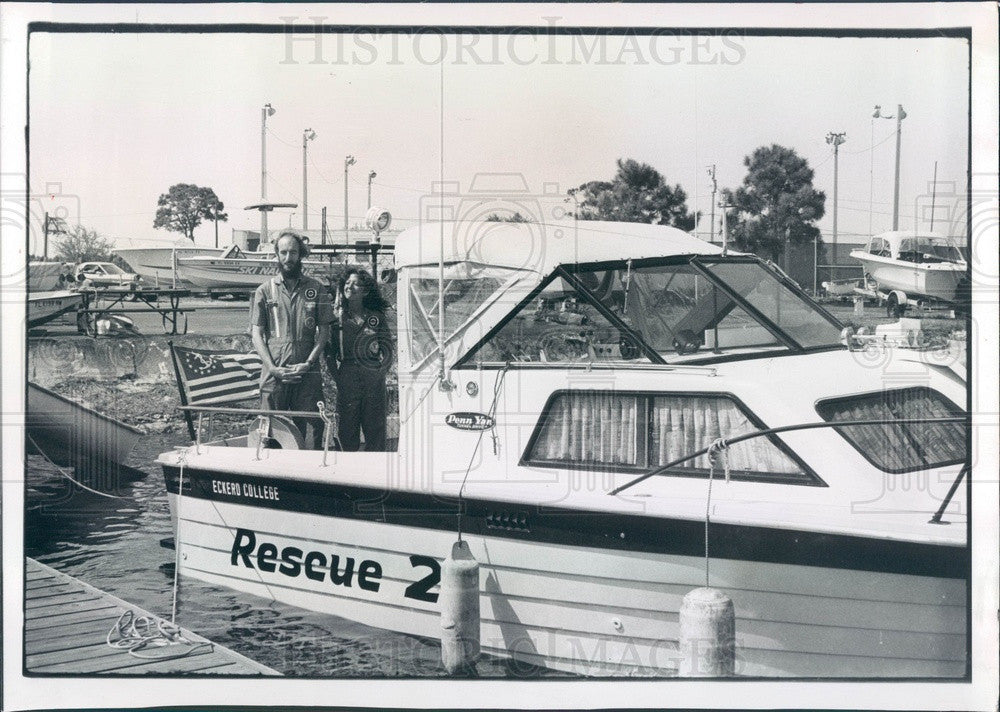 1980 St. Petersburg Florida Eckerd College Search and Rescue Team Press Photo - Historic Images