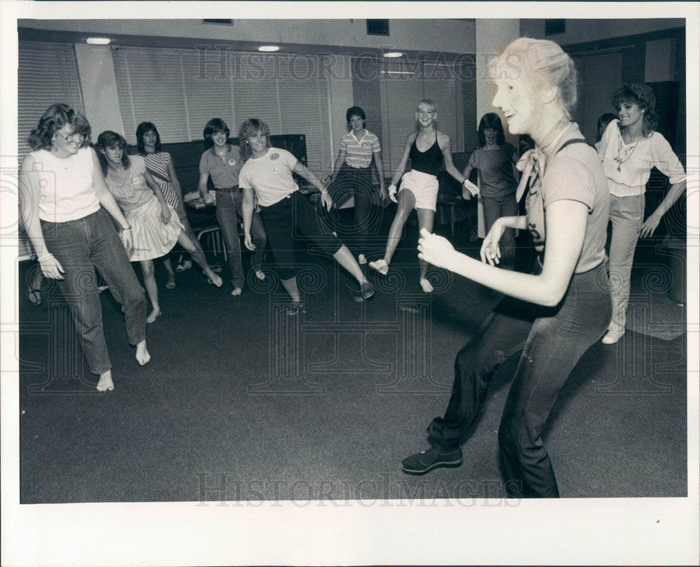 1983 St. Petersburg FL Eckerd College Language Dept Mime Amy Welty Press Photo - Historic Images