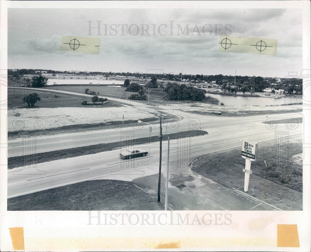 1982 St. Petersburg Florida Eckerd College Lake Extension Site Press Photo - Historic Images