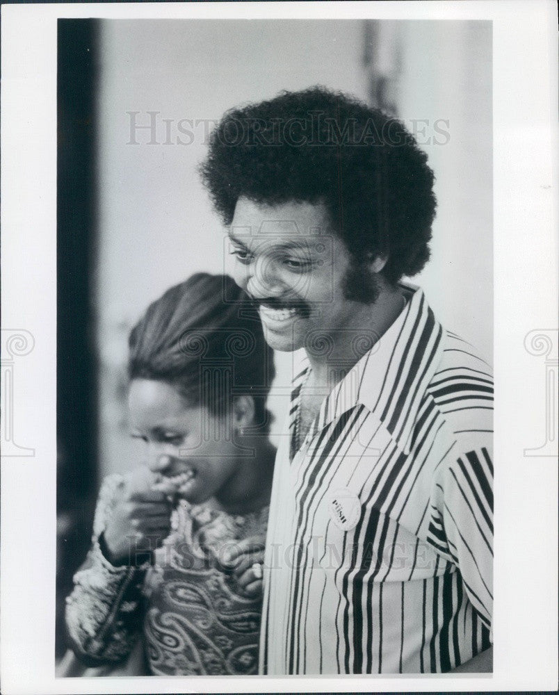 1975 Civil Rights Activist Rev. Jesse Jackson Press Photo - Historic Images