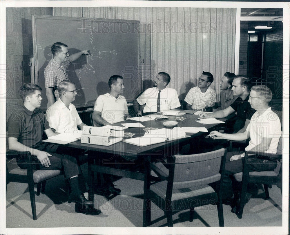 1963 Sarasota, Florida Electro-Mechanical Research Space Flight Team Press Photo - Historic Images